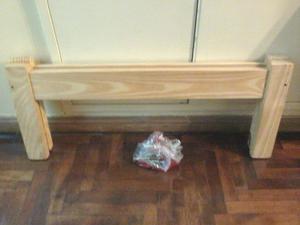 Pie de madera pino para cama 1 plaza