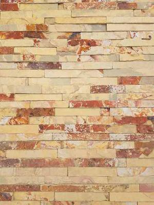 Placas De Piedra Natural Laja Brick Amarilla 15x60 X Unidad