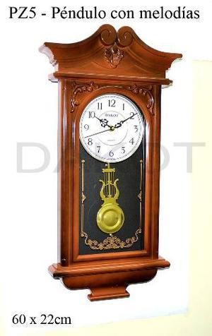Reloj De Pared C/péndulo Y Soneria Dakot Exelente Calidad!!