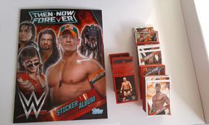 Vendo colección completa de figuritas a pegar de lucha ww