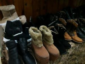 Liquido lote de zapatillas borcegos chatitas varios modelos