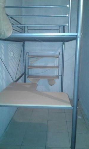 Cama de ca o alta con escritorio posot class - Cama alta con escritorio ...