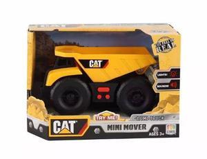 Cat Tractor Camion Volcador Carga Luz Y Sonido Mini Mover
