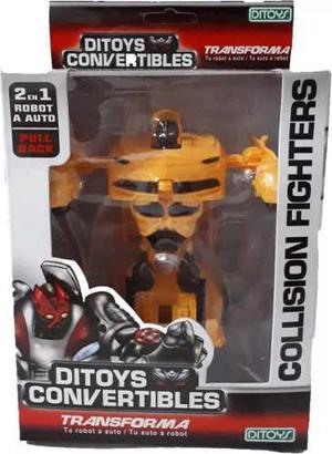 Ditoys Convertible Auto Transformers Robot A Fricción Once