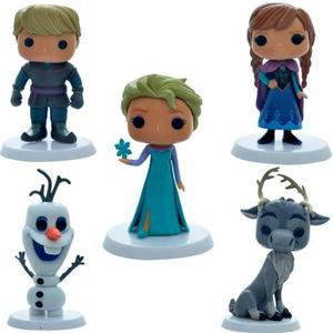 Frozen Set X 5 Figuras Funko Pop Decoracion De Tortas+ Bases