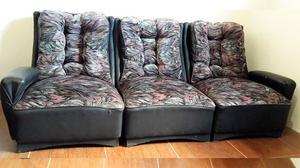 Juego de Sillones - Sofá cama + 2 Sillones Individuales