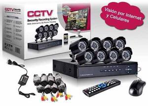 Kit Dvr Hd Cctv 8 Camaras Infrarrojas + Cable + Fuentes