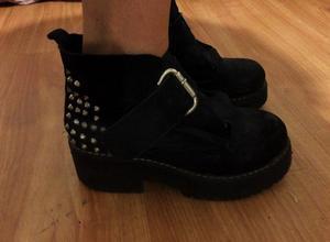 Zapatos Tipo Borcego De Mujer, Usado