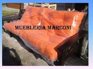 Futon De Pino C/ Colchon Muebleriamarconi Ituzaingo