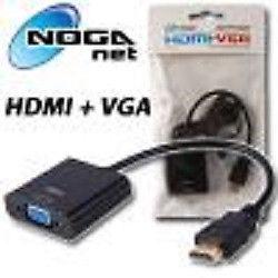 Adaptador HDMI (macho) a VGA (Hembra) + AUDIO Noganet
