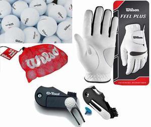 Kingshops Combo Golf 24 Pelotas +guante Wilson +tool 5 En 1