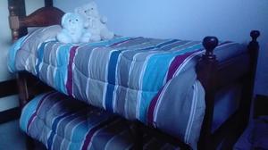 Vendo cama de algarrobo doble