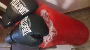 Bolsa de box mas guantes