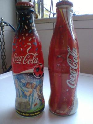 Botellas Coca Cola-Lote x 2 -De colecciòn! Retro!