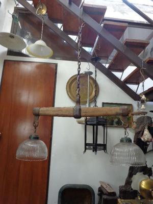 Gran lámpara colgante estilo campo. Antigua Saudade