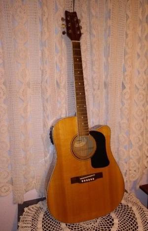 Guitarra electroacústica Washburn d6cen 125 aniversario.