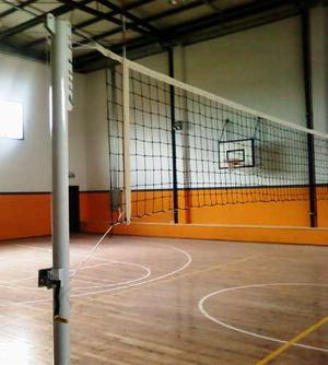 Red De Voley 9x1m Con Cable De Acero