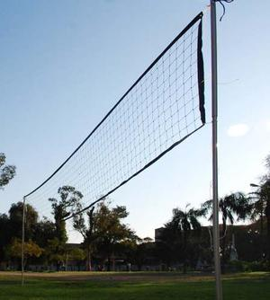 Red De Voley 9x1m Con Cable De Soga