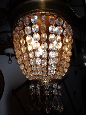 Exquisita lámpara colgante imperio, bronce. Antigua Saudade