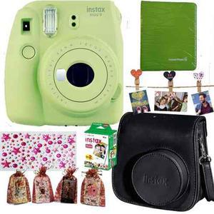 Instax Mini 9 Polaroid Verde 20 Foto Funda Álbum Broche Acc