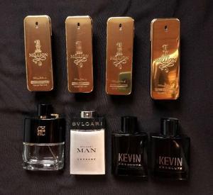 Lote De Frascos Vacíos De Perfumes Importados Variados
