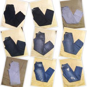 Lote de 26 jeans rectos de mujer. Tiro medio. Talles 38 y