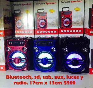 Reproductor De Música Con Bluetooth, Sd, Aux, Usb Y Radio