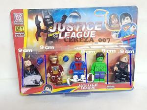 Set de 5 muñecos leg justice league liga de la justicia