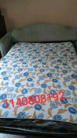 Sofá cama 2 cuerpos. Retapizar