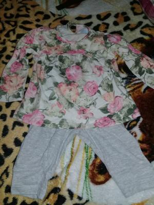 Conjunto de algodón calza y remera
