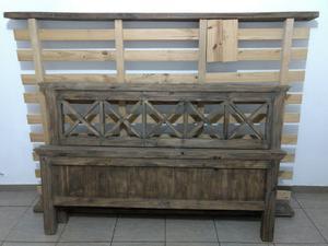 Vendo Cama de madera 1 1/2 plazas