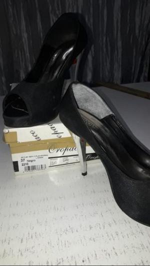 Zapatos de tacon, negros num 37