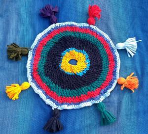 Alfombra de totora tejida al crochet | Posot Class