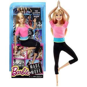 Muñeca Barbie Practica Yoga Made To Move