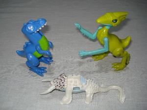 muñecos de dinosaurios (X3)