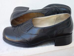 zapatos de mujer, cuero negro