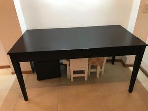 Hermosa Mesa de Comedor Laqueada Madera Moderna 160 cm.