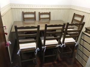 Juego de mesa con vidrio 5 mm y 6 sillas! Calidad y diseño