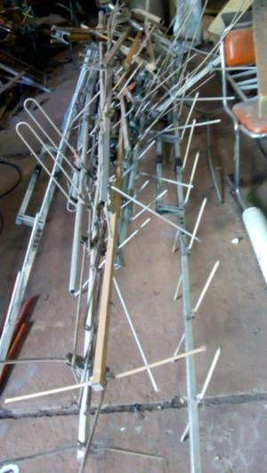 Lote de antenas de aluminio tv radio