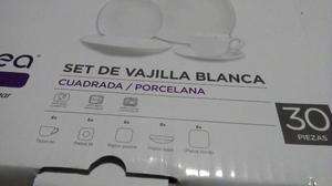 SET DE VAJILLA CUADRADA 30 PIEZAS