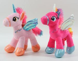 Unicornio De Peluche Pony 20 Cm Importado