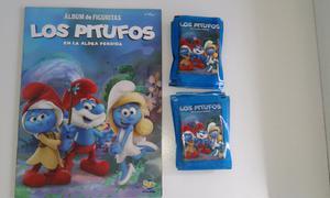 Vendo lote de 50 sobres llenos de figuritas de Los pitufos