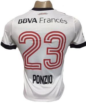 Camiseta River Plate 23 Ponzio Tricolor  Ho