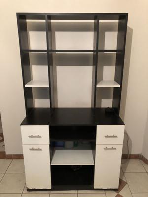 Mueble para televisor LED, modular, repisa, biblioteca