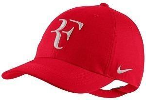 Gorra nike federer rf nuevo diseño color negro   rojo ed21b5f9c24
