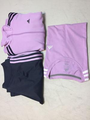 Conjunto Adidas talle M, campera, pantalón y remera, buen