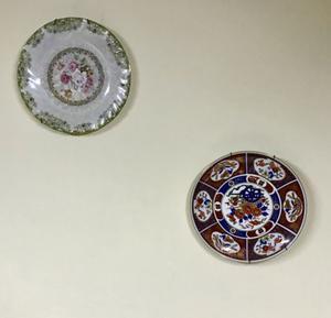 4 platos de adorno