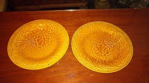 Antiguos platos decorativos loza inglesa 22cm diámetro