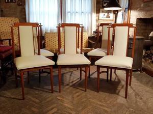 Juego de 6 sillas americanas tipo escandinavas.