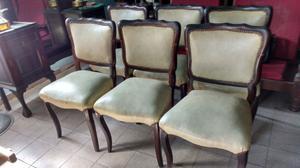 Juego de sillas para comedor estilo Luis 15